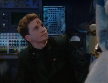 Rimmer looking annoyed at an edit