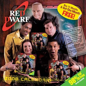 Red Dwarf 2008 Calendar Cover