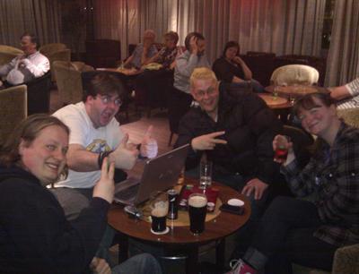 Ian Symes, Danny Stephenson, James 'El Presidente' Bull, Jo Sharples