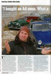 Chris Barrie in Practical Cars magazine - page 1