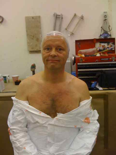 Robert Llewellyn after his mask fitting