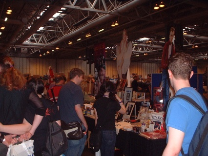 Photograph of one of the stalls. Nice arse.