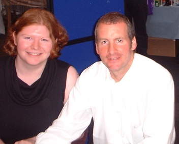 Photograph of Tanya with Chris Barrie. You don't want to know where her hands are.