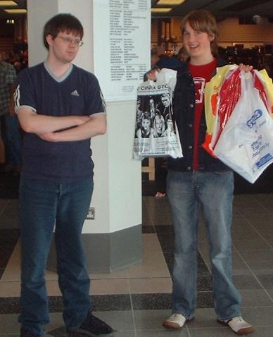 Photograph of John and Ian. Fucking geeks.
