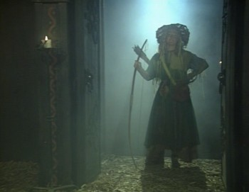 Maid Marian Series 2 DVD - Marian standing in a smoke-filled doorway. Beautiful.