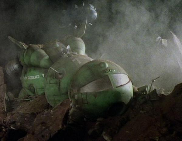 Shot of Starbug/Blue Midget from original version