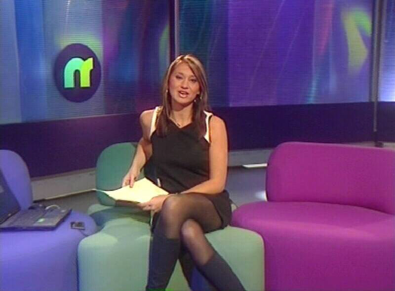 Ellie Crisell on the Newsround set