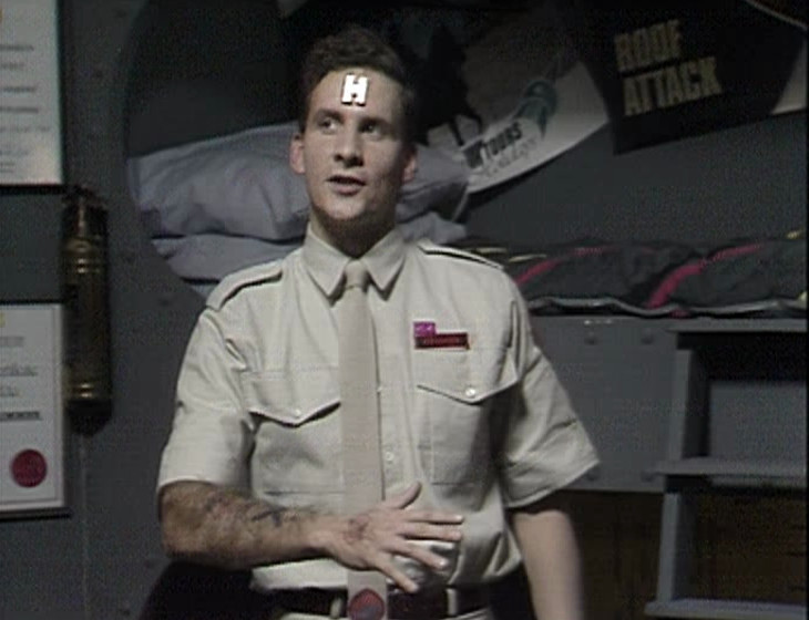 Rimmer still talking to a disembodied voice
