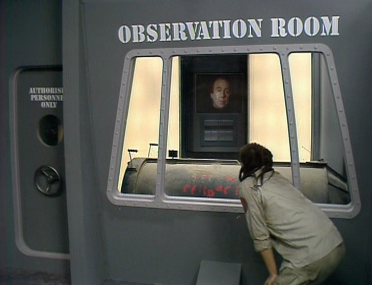 Lister and Holly in the Observation Room