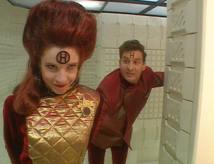 Nirvanah dragging Rimmer along so she can fuck him