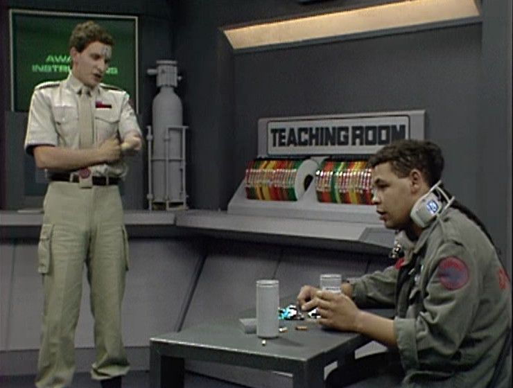 Rimmer and Lister in the Teaching Room