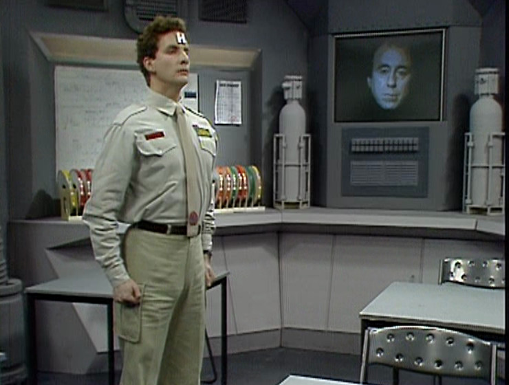 Rimmer and Holly in the Teaching Room