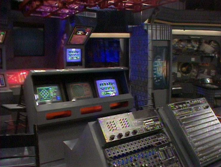 The Series 2 Drive Room next to the bunkroom set