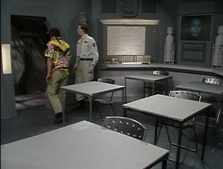 Lister and Rimmer in the Teaching Room