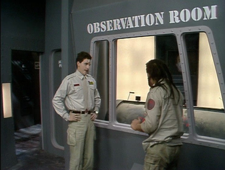 Lister and Rimmer in the Observation Room